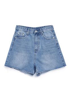 Brief Denim High Waist Casual Shorts