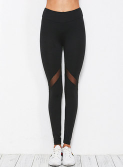 Sexy See-though Splicing Comfortable Yoga Pants