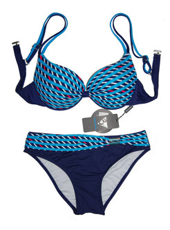 Trendy Print Gathered Slim Bikini