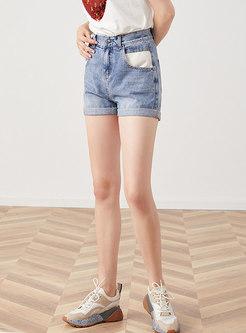 Summer Brief Elastic High Waist Denim Shorts