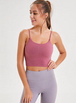 Brief Pink Slim Gathered Tight Top