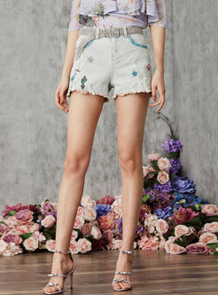 Brief High Waist Casual Straight Shorts