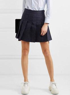 Chic High Waist All-matched Slim A Line Skirt