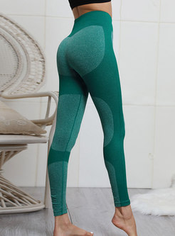 Sexy Pure Collar Knitted Tight Sport Pants