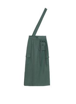Chic High Waist Side-slit Sheath Suspender Skirt