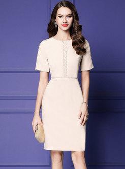 Elegant Drilling High Waist Bodycon Dress