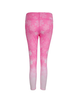 Digital Print High Waist Fitness Pants