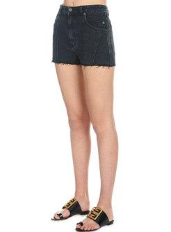 Brief All-matched Tassel Black Slim Shorts