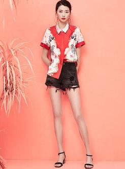Fashion Rough Selvage Denim Straight Shorts