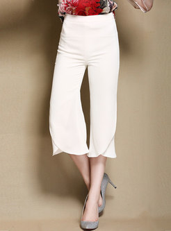 Chic Splicing High Waist Flare Pants