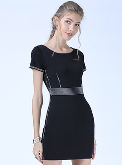 Brief O-neck Summer Slim Knitted Dress