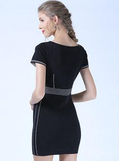 Brief O-neck Summer Slim Knitted Dress