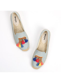 Chic Tassel Cute Breathable Casual Fisherman Shoes