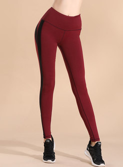 Color-blocked Breathable Quick-drying Yoga Pants