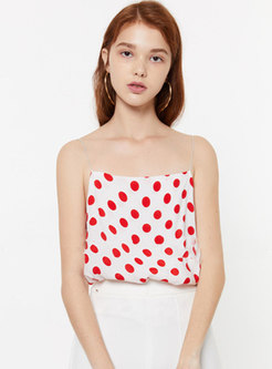 Summer Polka Dot Sleeveless Loose Cami