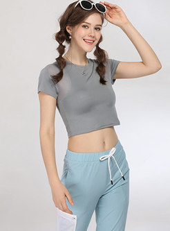 Casual Mesh Splicing Tied Comfortable Tracksuit