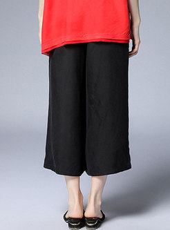 Solid Color Plus Size Loose Wide Leg Pants