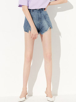 Brief All-matched High Waist Short Jeans