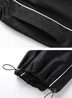 Chic Personality Zipper Pocket Budding Cargo Pants
