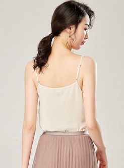 Sexy V-neck Backless Stereoscopic Decoration Cami