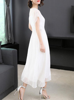 Asymmetrical Solid Color Long Dresses