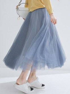 Casual Mesh High Waist Sweet Tutu Skirt