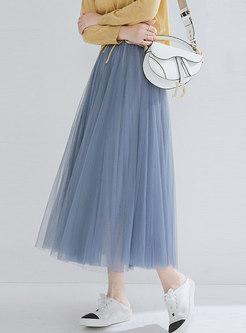 Casual Mesh High Waist Sweet Tutu Skirt