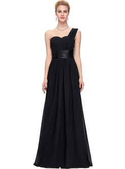 Contrast Solid Color V-Neck Sleevesless Special Occasion Dresses