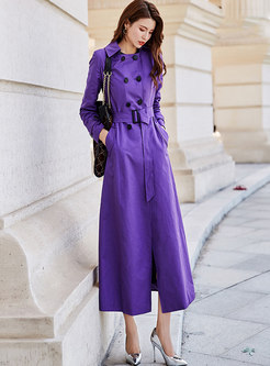 Stylish Double-breasted Slim Casual Trench Coat
