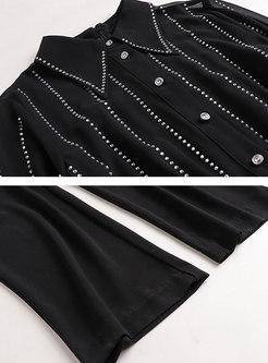 Stylish Work Diamond-ironing Perspective Jumpsuit