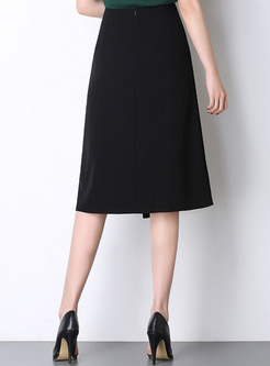 Anomalistic Solid Color Women's A-Line Skirts