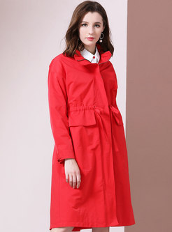 Fashion All-matched Loose Knee-length Trench Coat