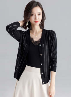 Solid Color Diamond All-matched Sun-proof Cardigan