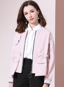 Solid Color Loose Short Thin Jacket