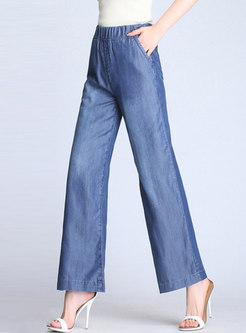 Casual All-matched Loose Denim Wide Leg Pants