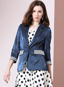 Patchwork Sequined Diamond Slim Blazer