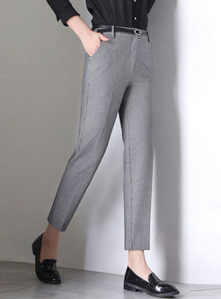 Casual High Waist Work Thin Slim Harem Pants