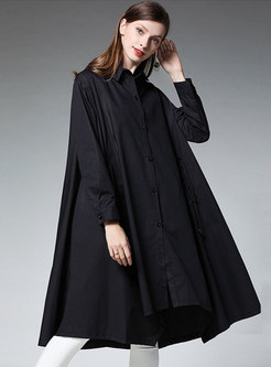 Casual Plus Size Loose Splicing Shift Dress