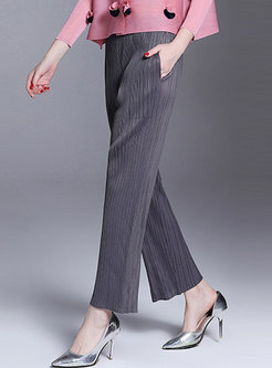 Casual All-matched Slim Wide Leg Pants