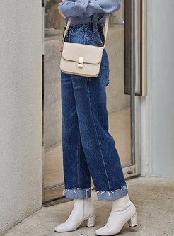 Casual High Waist Slim Comfortable Straight Pants