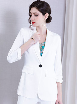 Pure Color All-matched Slim Blazer