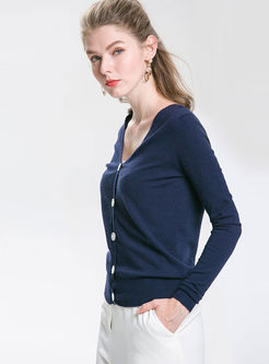 Grey Long Sleeve Knitted Top