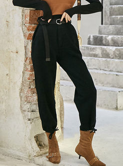 Chic High Waisted Loose Cargo Pants