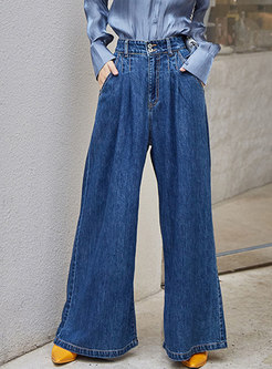 Fashion High Waisted Wide Leg Pants