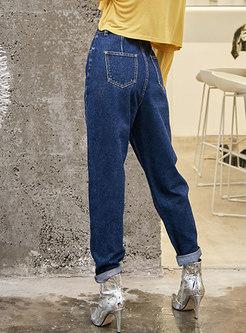 Casual High Waisted Straight Pants