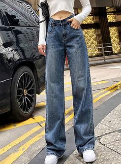 Stylish High Waisted Jean Pants
