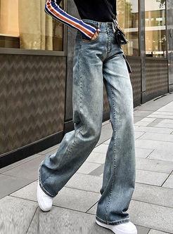 Fashion High Waisted Straight Long Pants