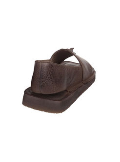 Vintage Cowhide Flat Beach Sandals