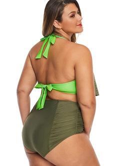 Sexy Plus Size Halter Openwork Bikini