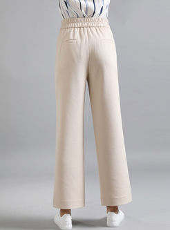 Casual High Waisted Straight Pants